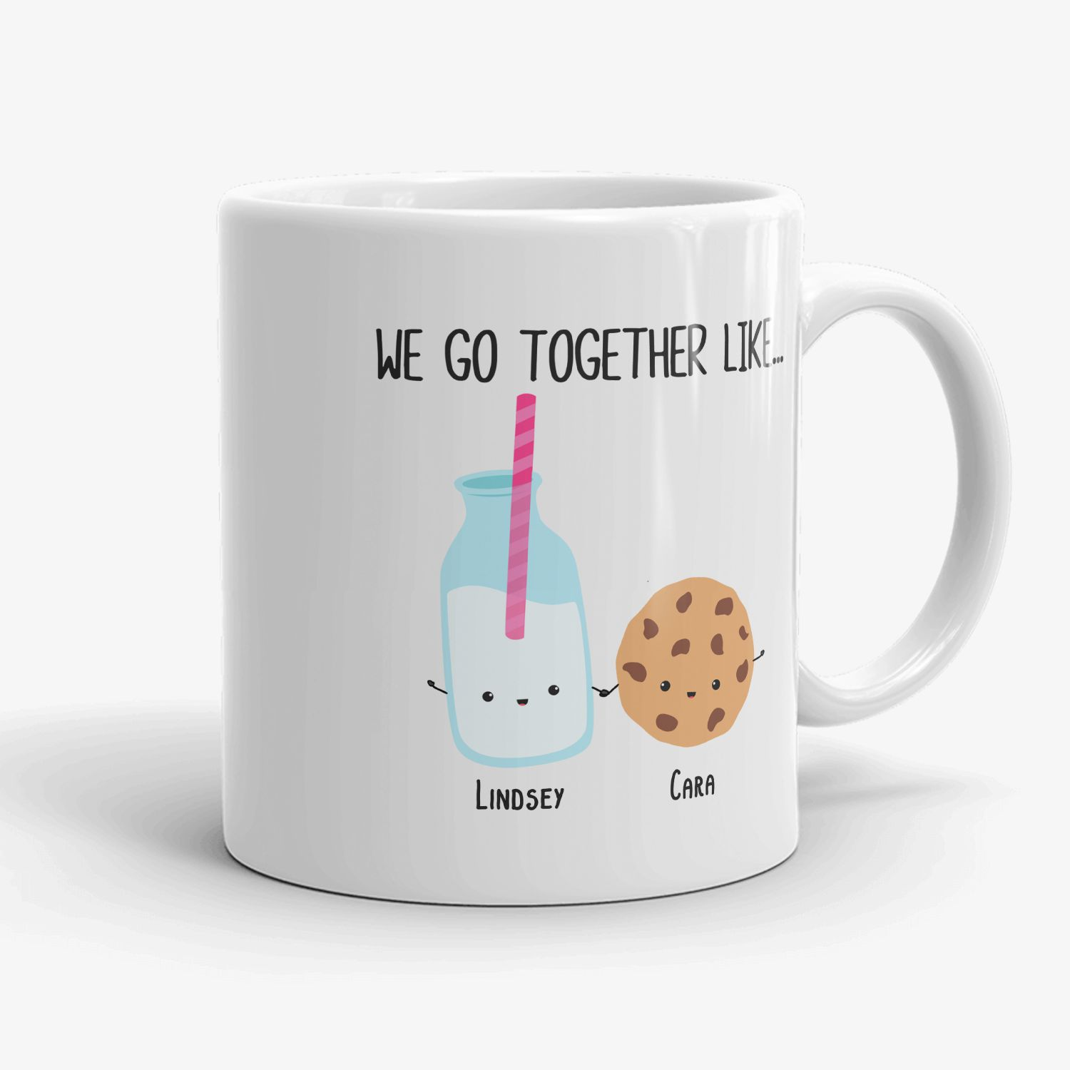Best Friends Mug We Go Together Like Milk And Cookie Bestie Gift