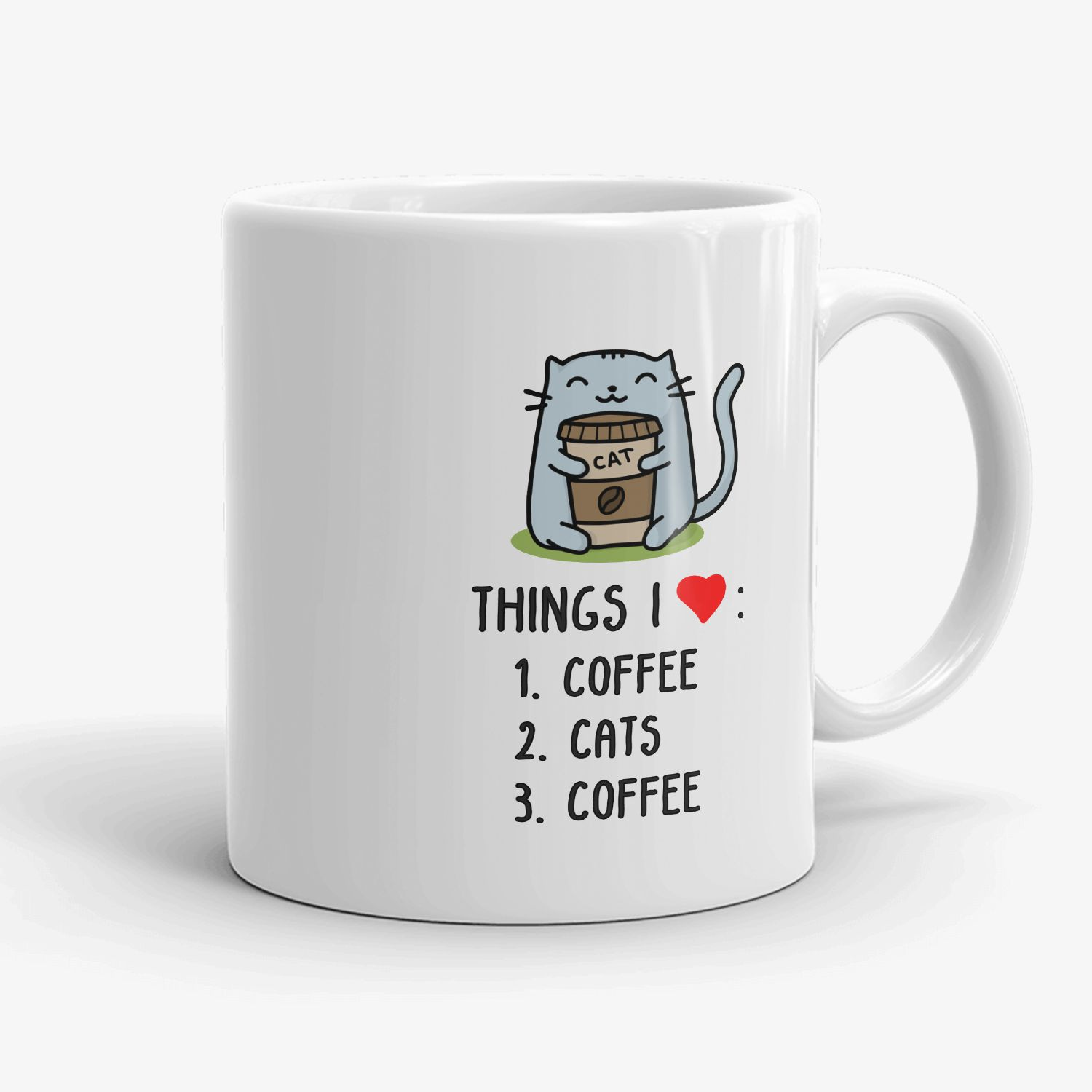 Great Gift For Child Men Women Lover with Good Mood Mug Details about  /Funny Cute Cat Mug