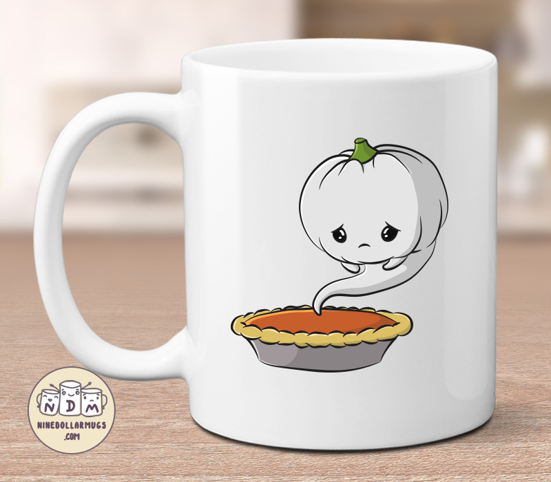 Cute Ghost Pumpkin Halloween Mug