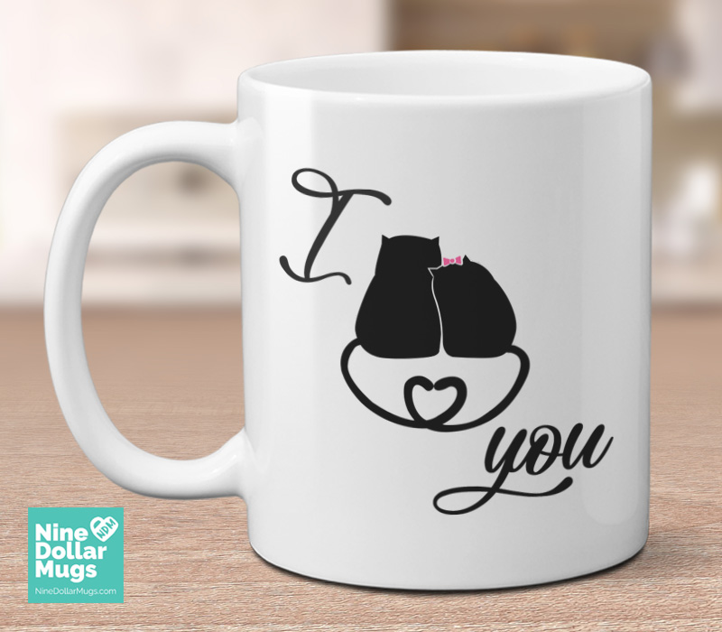 i love you 11oz cat lover valentine mug mug for boyfriend mug for