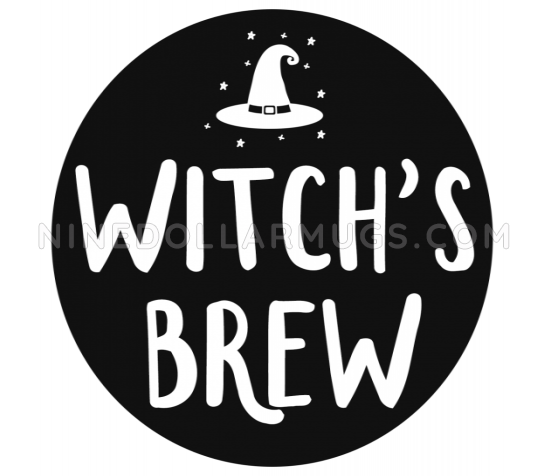 Witch's Brew - Halloween Mug, Halloween Decor - Design Sample