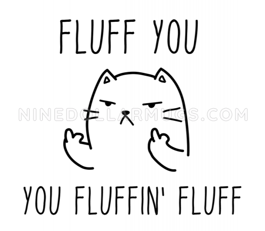 Fluff You You Fluffin Fluff - Funny Quirky Cat Mug - Design Sample