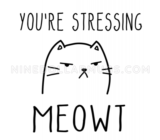 You're Stressing Meowt - inappropriate cat mug, crazy cat lady gift, mug for her, wife mug, girlfriend gift, cute cat - Design Sample