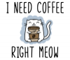 I Need Coffee Right Meow - Coffee Lover Cat Travel Mug - Photo 2