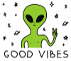 Good Vibes Only - positive quote mug, coworker mug, funny alien mug, gift for friends, inspirational mug, gag mug, secret Santa gift - Photo 3