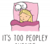 It's Too Peopley Outside, 11oz funny introvert coffee mug, gift for her, cat lover's mug - Photo 1