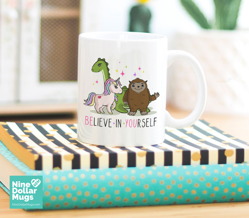 Believe in yourself funny inspirational saying mug believe in yourself funny inspirational mug cute gift for her graduation gift solutioingenieria Images